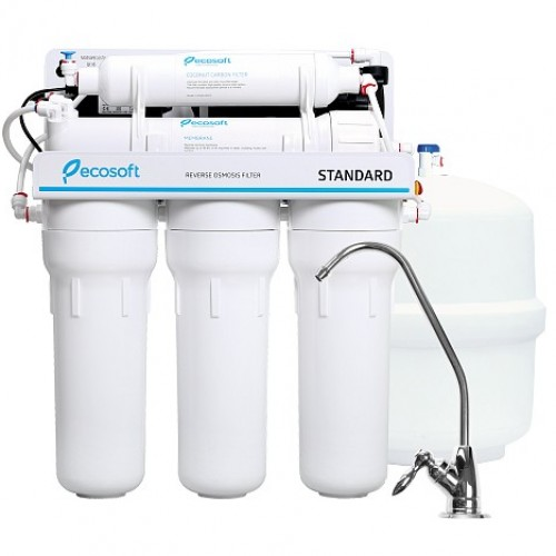 Система обратного осмоса Ecosoft Standard с помпой (MO550PECOSTD)