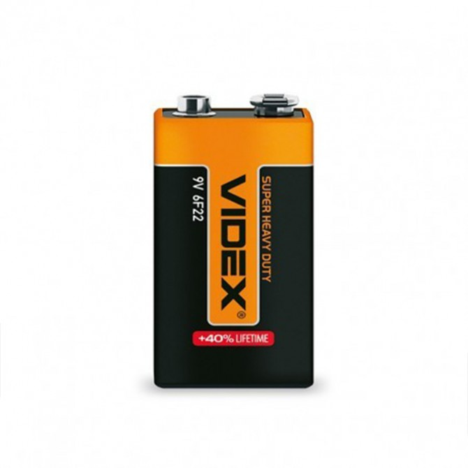 Батарейка солевая Videx 6F22/9V