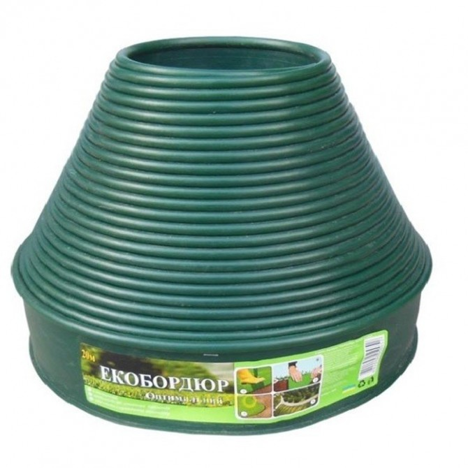 Садовый бордюр Gartec (зеленый) - 10м