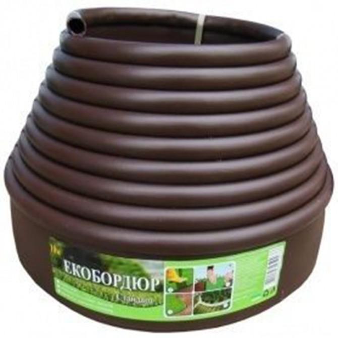 Садовый бордюр Gartec (коричневый) - 10м